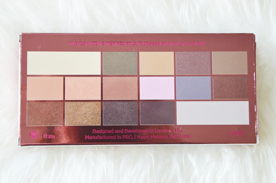 I heart Chocolate palette