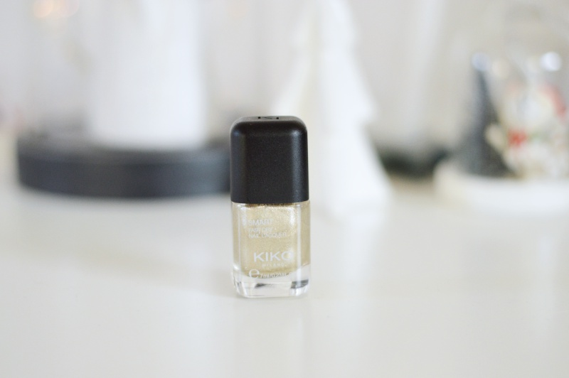 NOTD || Kiko Smart Nail Laqcuer 034 Cool Gold