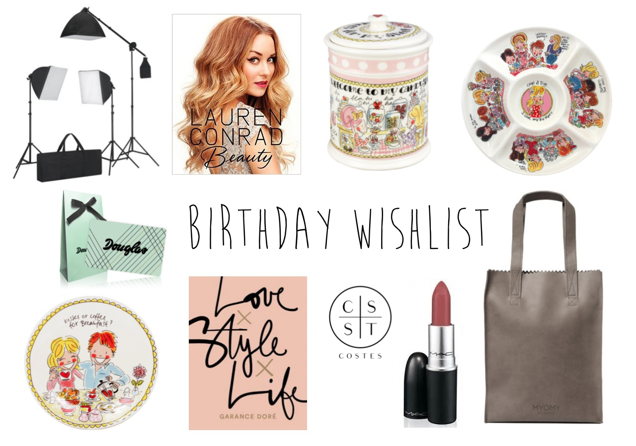 BIRTHDAY WISHLIST 2017