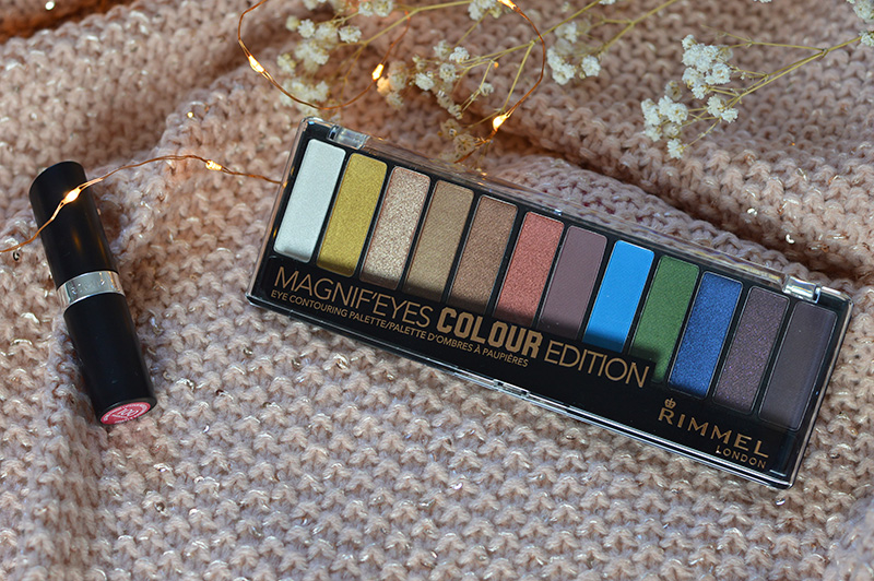 RIMMEL LONDON MAGNIF'EYES EYE CONTOURING PALETTE & LASTING FINISH LIPSTICK